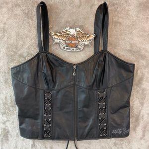 All Leather Harley Davidson Tank